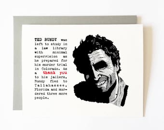 ted bundy thank you card