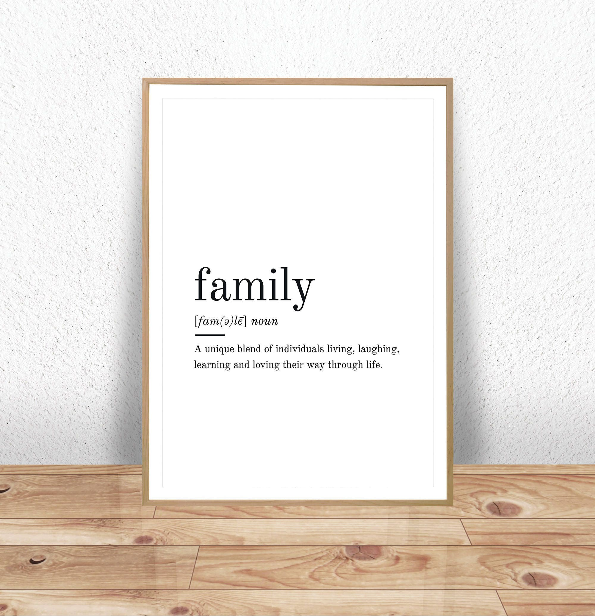 Family definition printable wall art family print family for Free travel posters for teachers
