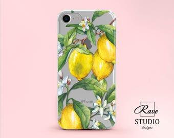 Lemon Lemon iPhone 6 Case iPhone 7 case yellow Lemon iPhone Case iPhone 8 case iPhone 8 plus case iPhone 10 case iPhone X case iPhone 7