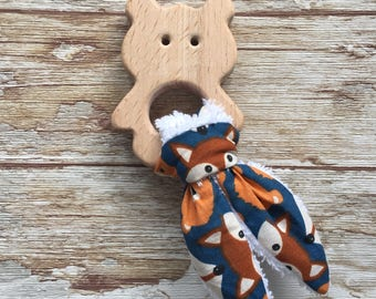 Wooden teething ring for baby perfect gift for newborn