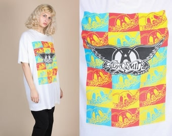 Vintage 1989 Aerosmith T Shirt - 3XL // 80s Pump Rare Graphic Band Tee