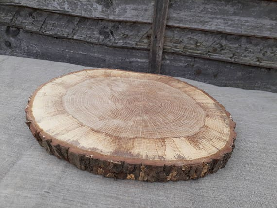 Huge wood slice rustic wedding table craft decor