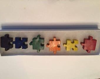 Puzzle Piece Crayons