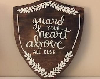 Guard your heart | Proverbs 4:23 | Bible Verse | Bible Verse art | Guard your Heart