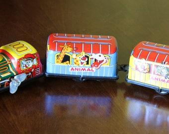Wind-Up Tin Train Toy