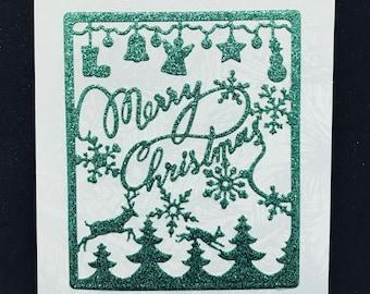 Green Glitter Christmas