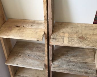 Nightstand Night Table Bedside Table : 3 shelves Pallet Wood Farmhouse