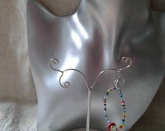 beautiful colorful hoop earrings