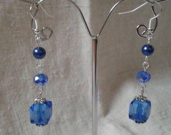"""all blue dressed"" earrings"