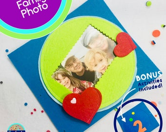 Family Photo Page for TinyFeats Quiet Book - Best Quiet Book Page for Babies, Toddlers and Preschool Children - Family Photo Frame