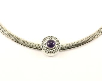Vintage Beautiful Lori Bonn Amethyst Necklace 925 Sterling Silver NC 915