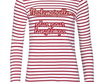 Sailor red and white bachelorette party shirt personalized