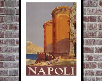 VINTAGE POSTER Naples Italy Travel Poster