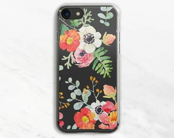 Colorful Flowers iPhone 6 Plus Case iPhone 7 Case iPhone 6 Plus Case Clear iPhone 6 Case iPhone 7 Case Clear Clear Phone Case iPhone SE Case