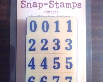 Karen Foster Snap-Stamps, Numbers, Medium Formal #00388, NEW in orig. box