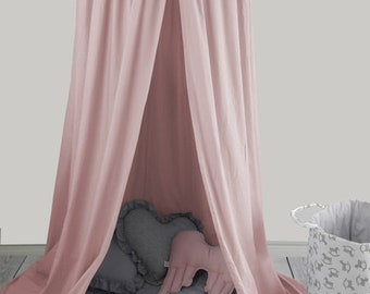 Powder Pink Canopy / Bed canopy / Kids canopy / Baby canopy / Baldachin / Crib & Bed canopy | Etsy