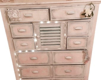 CUSTOM Off White Dresser_Antique Dresser_Vintage Chest of Drawers_Shabby Chic Dresser_Painted_Distressed Wood_Cottage Furniture_Country Home