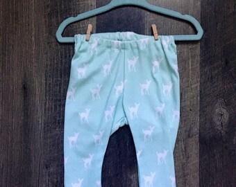 Mint Fawn Baby Leggings 3-6m