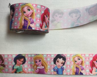 GROS GRAIN Ribbon various princesses patterns