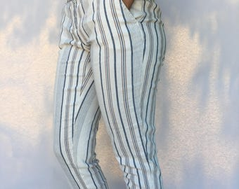 Anne Taylor Striped Summer Pant