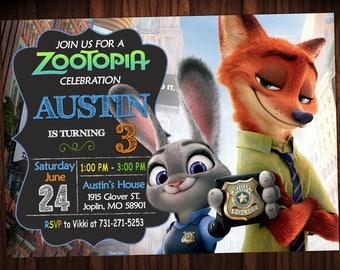 Zootopia Invitation Birthday - Zootopia Party