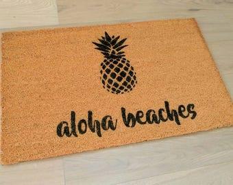 Aloha beaches doormat