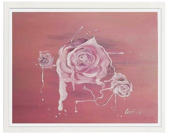 Oil Painting Original, Painting Roses, Modern Impasto Painting, Abstract Flowers Art, Canvas Art Flowers, Contemporary Art, Painting Floral