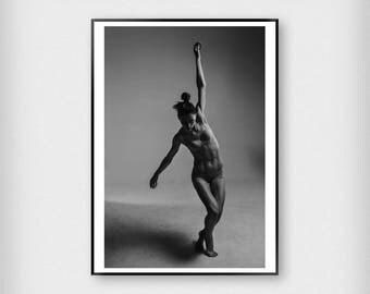 Dancer Print   Fashion   Black - White   Photography - Art - Poster
