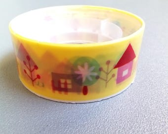 Masking tape houses village yellow 2.5 m