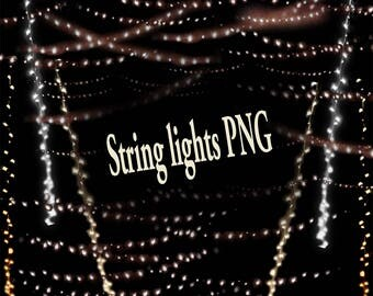 Decoration, embellishment, photo, Digital , Download, lights, string, ambiance, mood, evening, twinkle, gathering, night time, cool, warm,