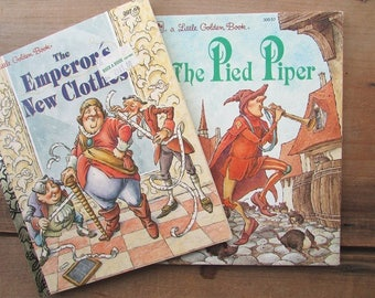 Little Golden Book Set The Pied Piper The Emperor's New Clothes 1990s