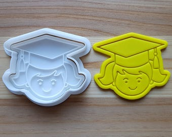 Graduation (Girl) Cookie Cutter and Stamp