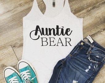 Auntie bear tank top