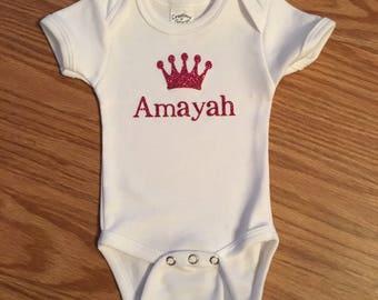 Baby name onsie