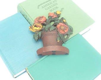 Vintage Primrose Bouquet Door Stop Paperweight Bookend
