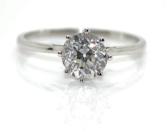 Old cut diamond solitaire