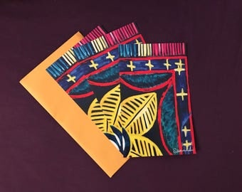 3 x Flower card with envelopes