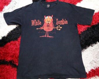 RARE!!! Vintage White Zombie 1996 Concert Tour Shirt Heavy metal Rock Alternatice Grunge