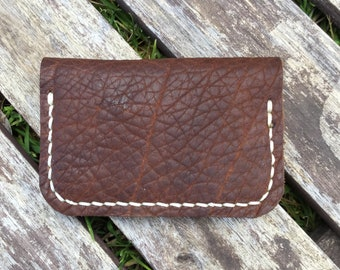 Wallet - Folding Minimalist Style in Bison Leather