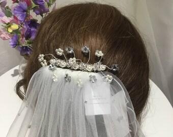 Bridal hair comb , bridal hair accessories ,bridal hair jewellery