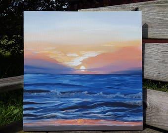Original Acrylic on Canvas, Brilliant Dawn