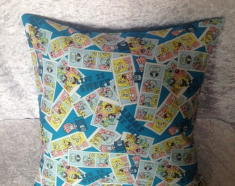 Handmade Spongebob Squarepants 16 Inch Cushion Cover