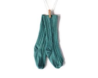 Teal Knee-High Stockings/Socks for Baby/Toddler