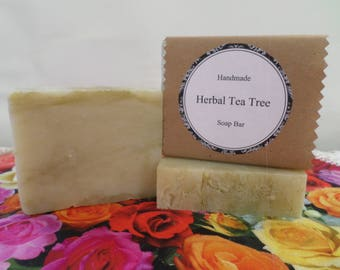 Herbal Tea Tree Soap, Tea Tree Soap, Tea Tree Soap Bar, Tea Tree Bath Soap, Herbal Soap, Handmade Soap, Natural Soap, Vegan Soap