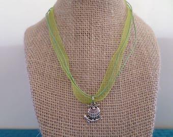 Owl Charm Necklace, Owl Charm Choker, Owl Charm Pendant, Owl Charm Jewelry, Charm Necklace, Charm Choker, Charm Jewelry, Owl Charms