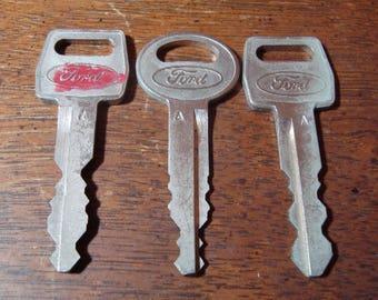 Vintage Ford Car Keys