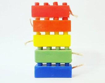 Lego Brick Candle