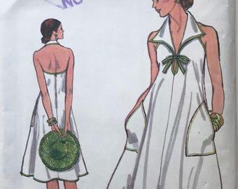 Vintage Vogue 9507 Halter Dress 70's Sewing Pattern