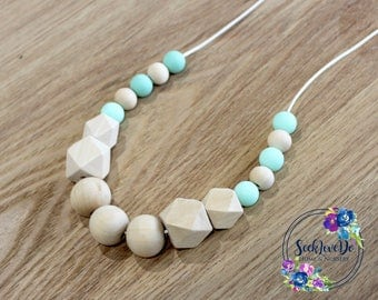 Silicone Necklace, Mommy Necklace, Baby Shower Gift, mom Necklace, new mom gift, beaded necklace, breastfeeding, silicone beads, nursing aid