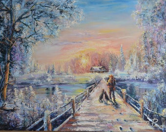 Original Oil Painting ''Returning Home''